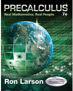 Precalculus: Real Mathematics, Real People, 7e