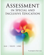Assessment in Special and Inclusive Education