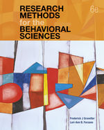 Research Methods for the Behavioral Sciences, 6e