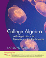College Algebra with Applications for Business and Life Sciences, Edition