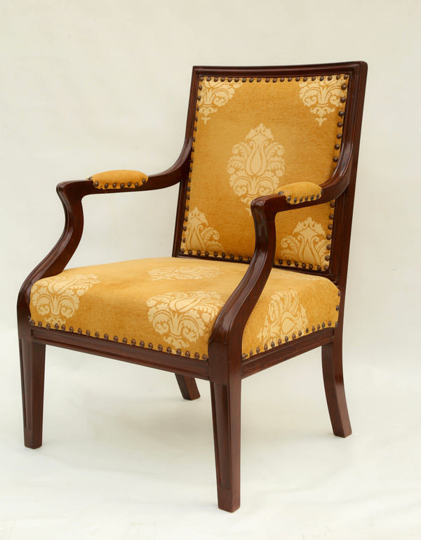 Block Foot Neoclassical Chair