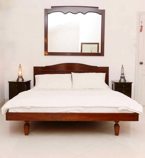 Modern Bed with Side Tables