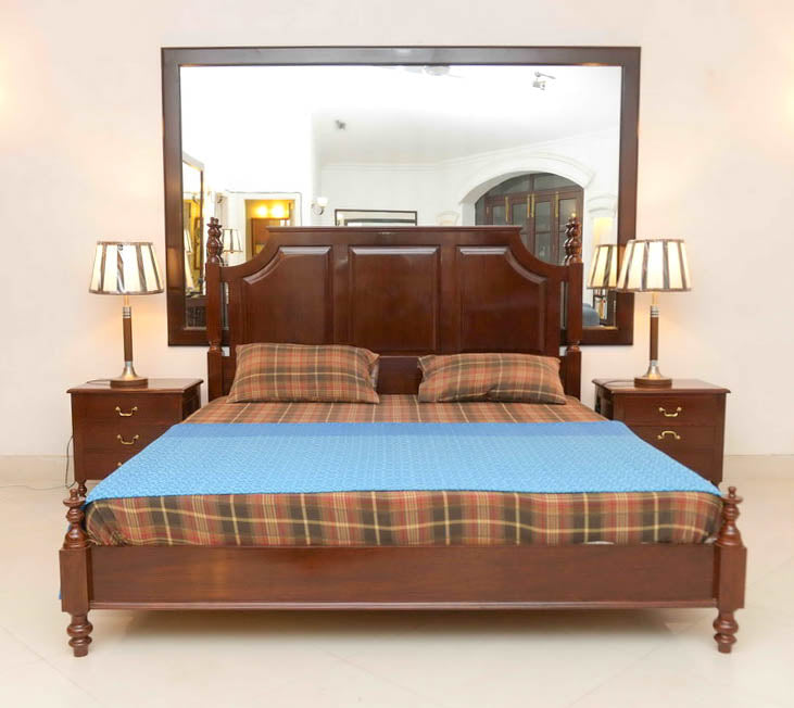 Art Deco Bed with Side Tables