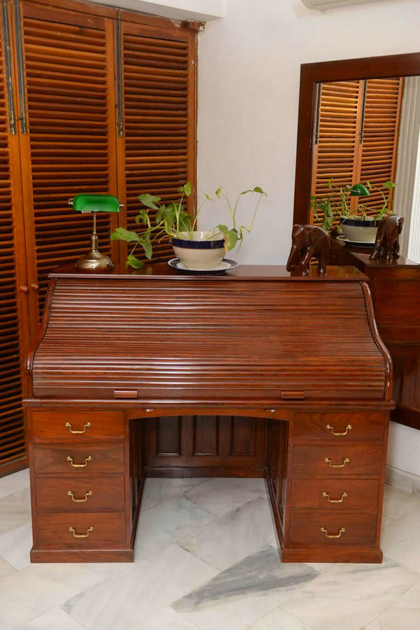 British Roll Top Writing Bureau