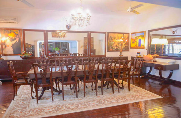 Chippendale Dining Table with Chairs