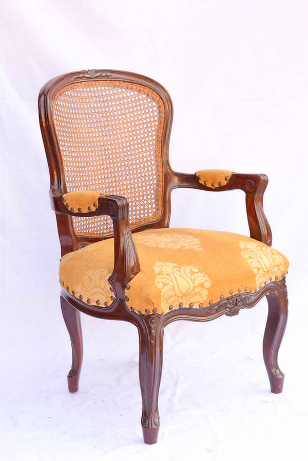 Queen Anne Cane Back Chair