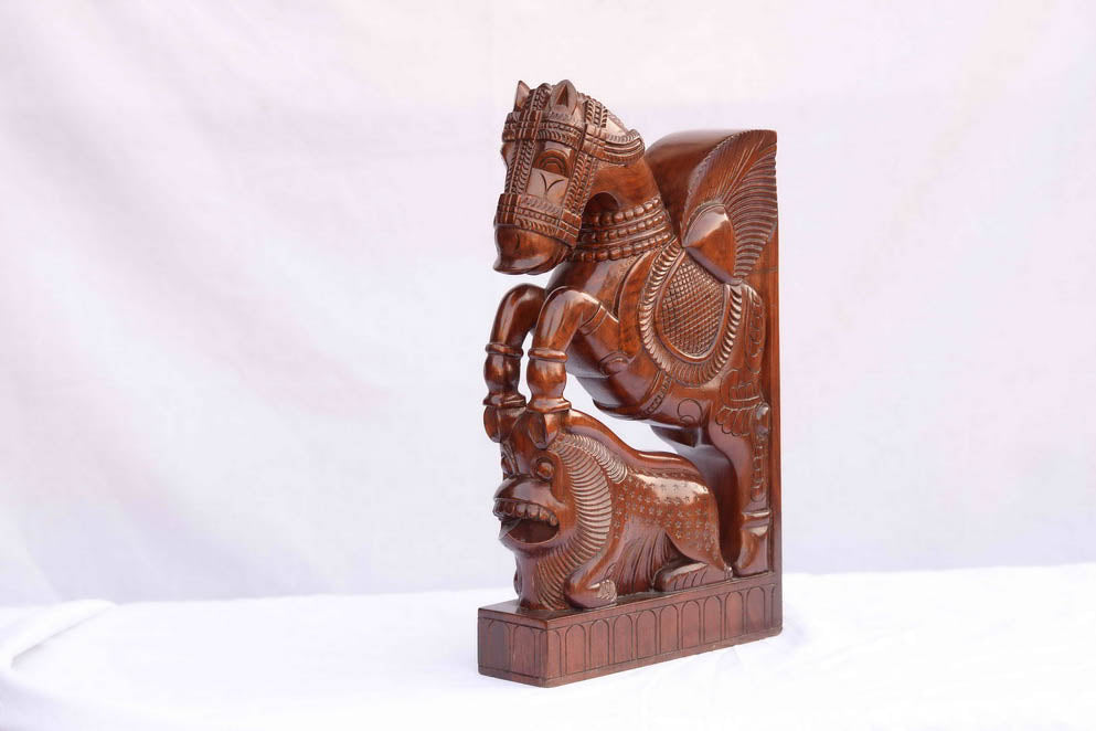 Hand-Carved Indian Horse