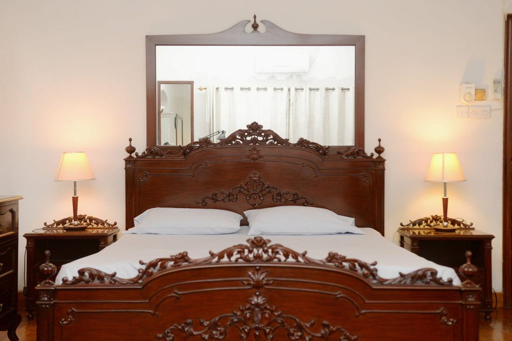 Baroque Bed with Side Tables