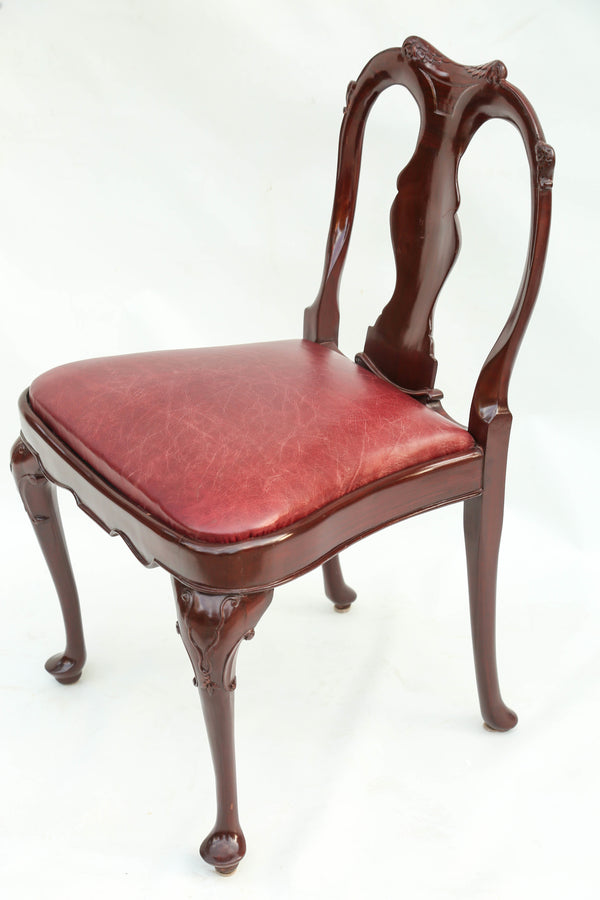Pad Foot Leather Chair