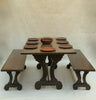 Manor Dining Table & Bench