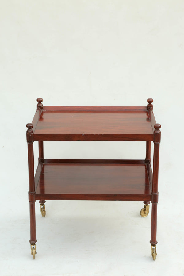 Sheraton Two-Shelves Tea Trolley