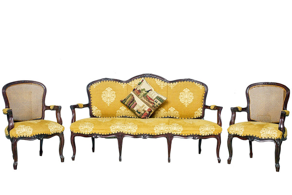 Louis XV Arm Chair & Settee