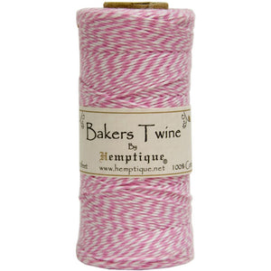 HEMPTIQUE BAKERS TWINE LIGHT PINK (IN STOCK)