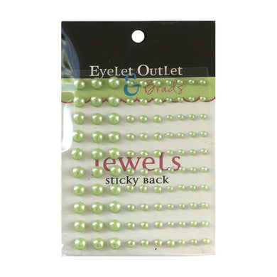 EYELET OUTLET PEARLS DOTS GREEN (IN STOCK)