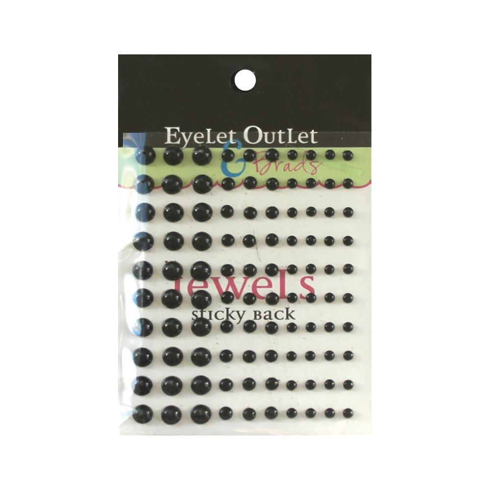 EYELET OUTLET PEARLS DOTS BLACK (HAS TO BE ORDERED)