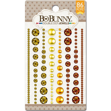 BO BUNNY DOUBLE DOT JEWELS ENAMEL STICKER EMBELLISHMENTS CITRUS (IN STOCK)