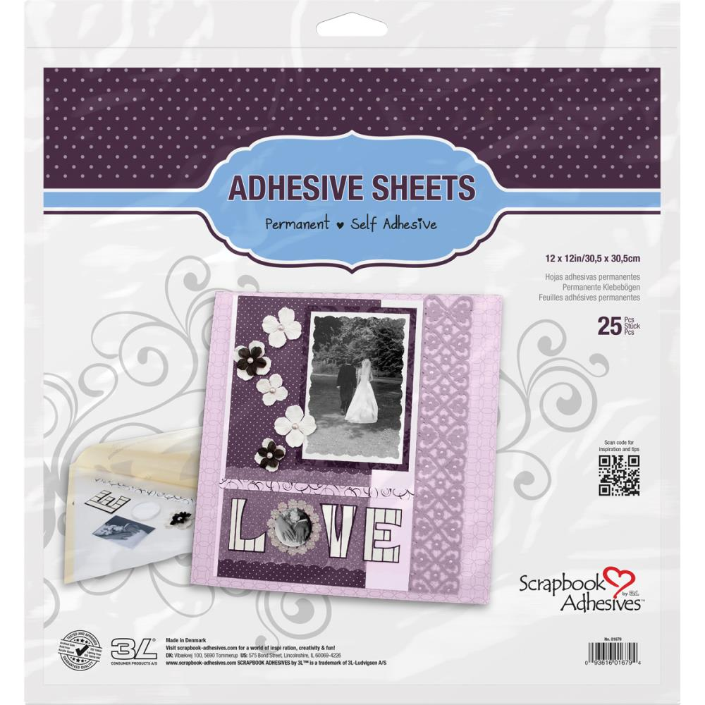 SCRAPBOOK ADHESIVES 12X12 SHEETS DOUBLE SIDED TAPE (HAS TO BE ORDERED)