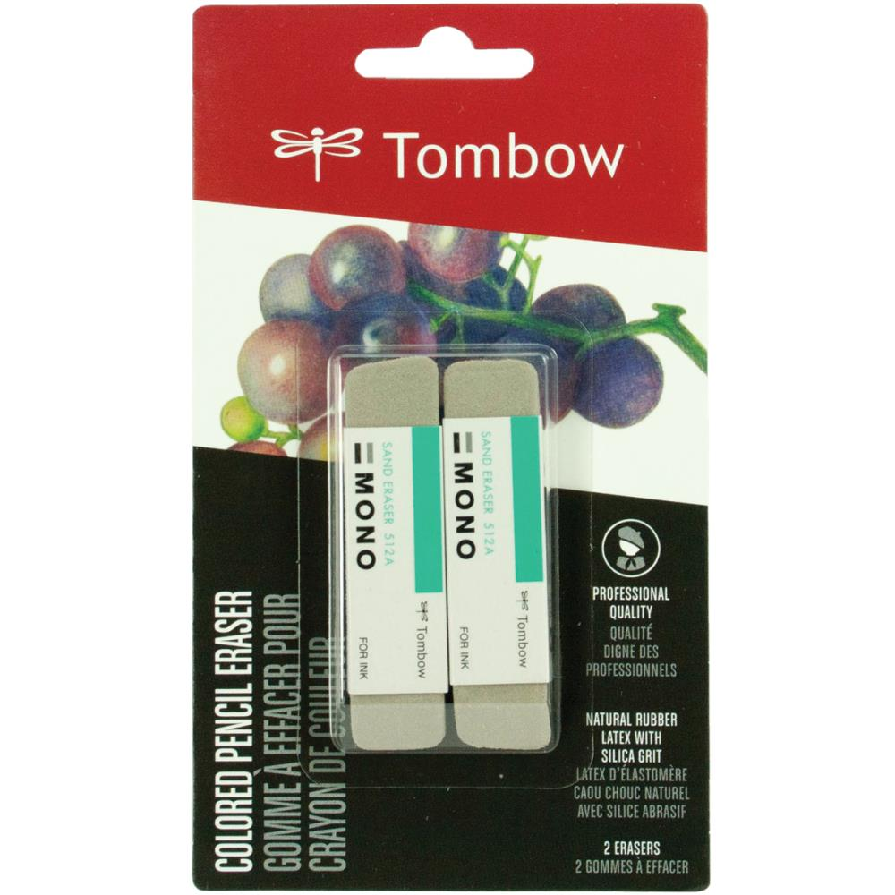 TOMBOW TOOLS SAND ERASERS 2 PACK  (IN STOCK)