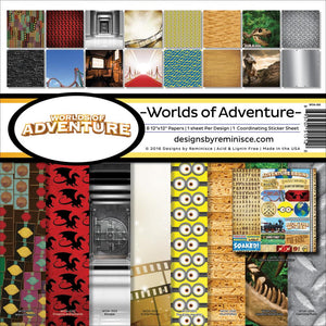 "REMINISCE 12""X12"" COLLECTION PACK WORLDS OF ADVENTURE (IN STOCK)"