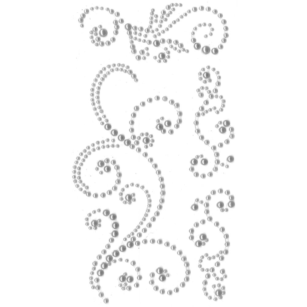 EYELET OUTLET ADHESIVE PEARL SWIRLS SILVER (HAS TO BE ORDERED)