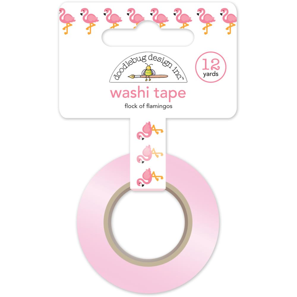 DOODLEBUG DESIGNS SWEET SUMMER FLOCK OF FLAMINGOS WASHI TAPE (IN STOCK)