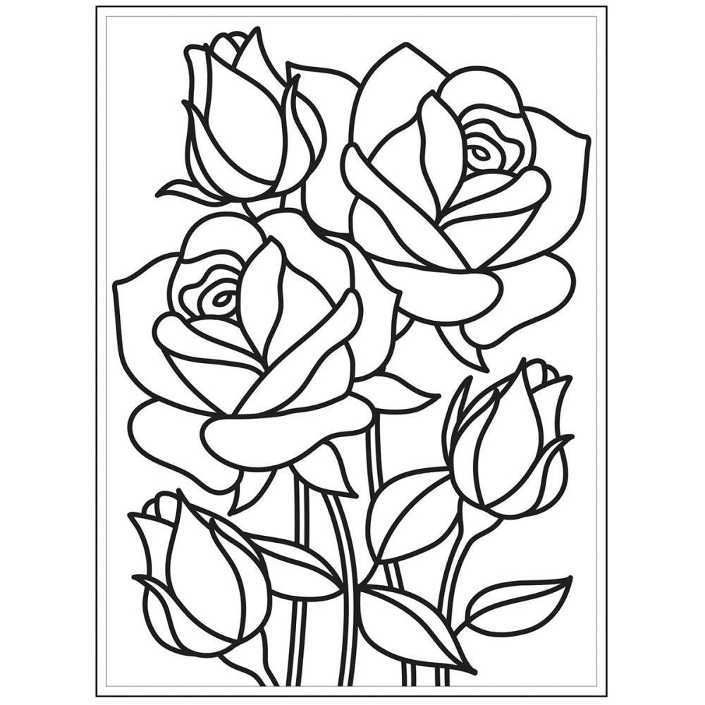 DARICE EMBOSSING FOLDER MOSAIC ROSE (IN STOCK)