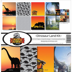 "REMINISCE 12""X12"" COLLECTION PACK DINOSAUR LAND (HAS TO BE ORDERED)"