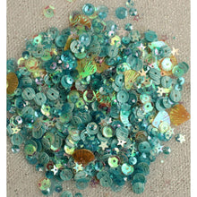 Load image into Gallery viewer, BUTTONS GALORE LILAC LANE TIN WITH SEQUINS SEASIDE HOLIDAY (IN STOCK)