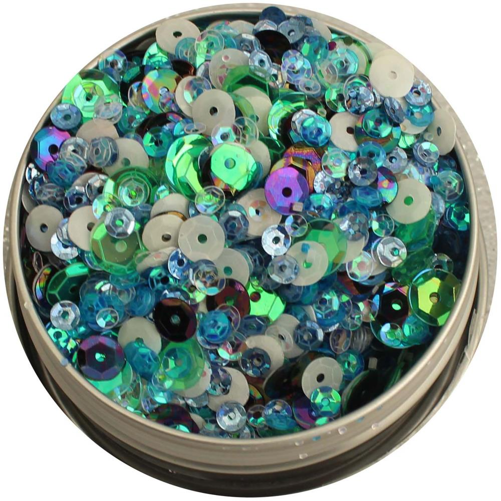 BUTTONS GALORE LILAC LANE TIN WITH SEQUINS PARTY TIME (HAS TO BE ORDERED)