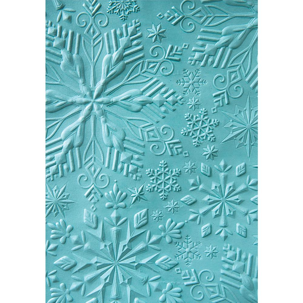 SIZZIX EMBOSSING FOLDER 3D WINTER SNOWFLAKES (IN STOCK)