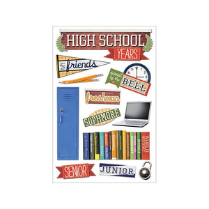 PAPER HOUSE 3D STICKER EMBELLISHMENTS HIGH SCHOOL (HAS TO BE ORDERED)