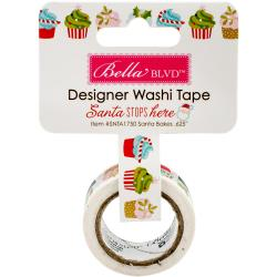 BELLA BLVD SANTA STOPS HERE WASHI TAPE (CLEARANCE)