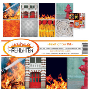 "REMINISCE 12""X12"" COLLECTION PACK FIREFIGHTER (HAS TO BE ORDERED)"