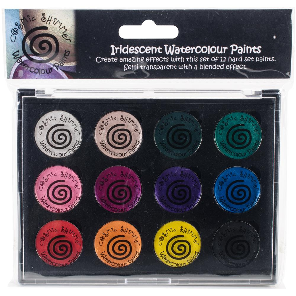 CREATIVE EXPRESSIONS COSMIC SHIMMER IRIDESCENT WATERCOLOR PALETTE CARNIVAL BRIGHTS (HAS TO BE ORDERED)