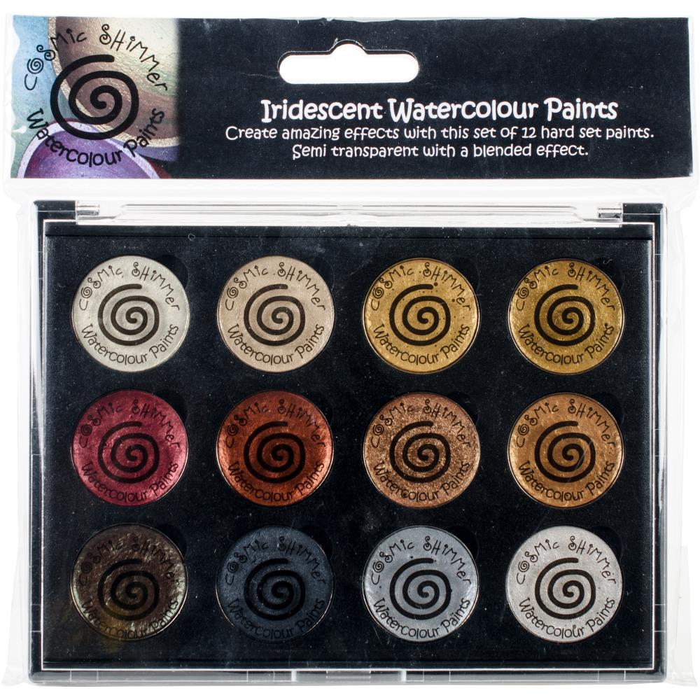 CREATIVE EXPRESSIONS COSMIC SHIMMER IRIDESCENT WATERCOLOR PALETTE METALLICS (HAS TO BE ORDERED)