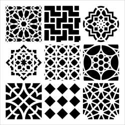 "THE CRAFTER'S WORKSHOP STENCIL 12""X12"" MOROCCAN TILES (CLEARANCE)"