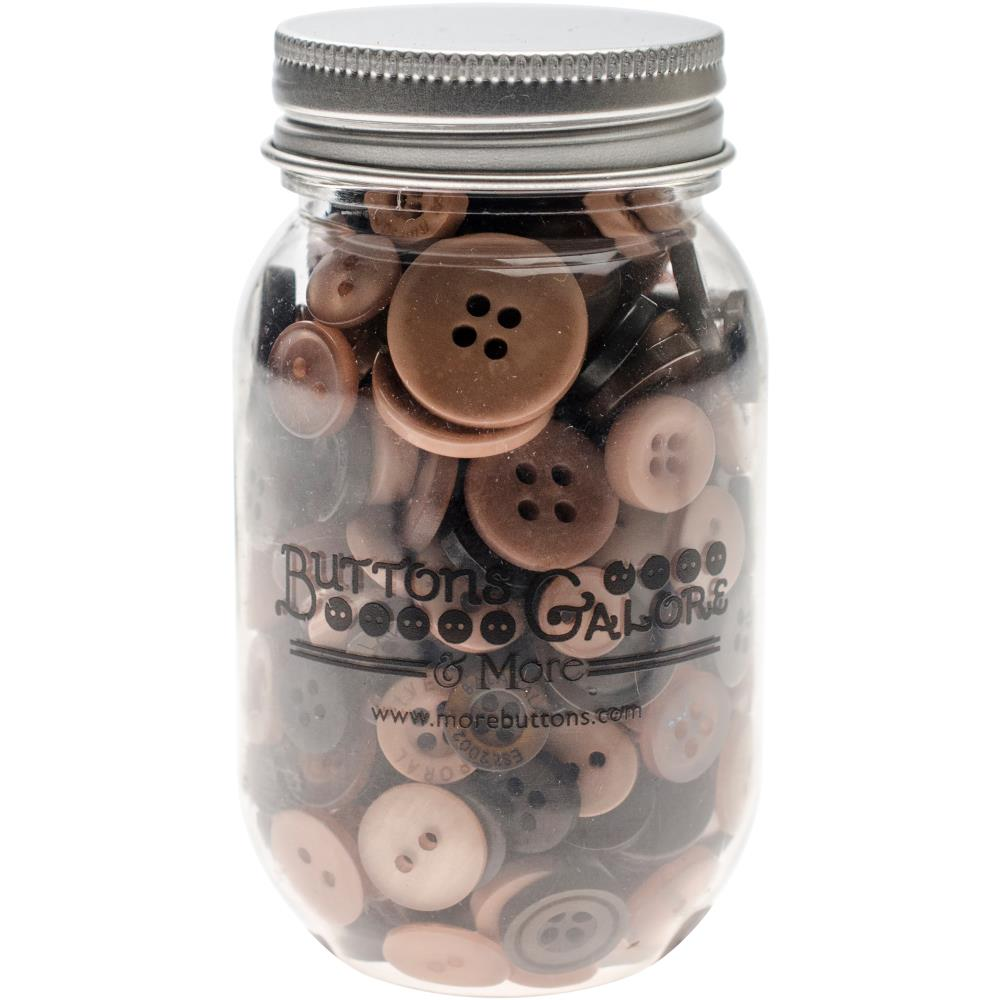 BUTTONS GALORE BUTTON MASON JARS WARM COCOA (HAS TO BE ORDERED)