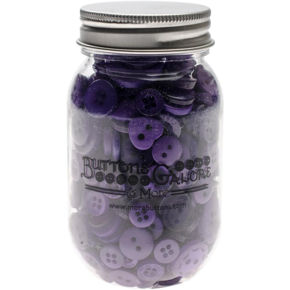 BUTTONS GALORE BUTTON MASON JARS ULTRA VIOLET (HAS TO BE ORDERED)