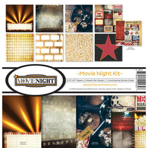 "REMINISCE 12""X12"" COLLECTION PACK MOVIE NIGHT (IN STOCK)"