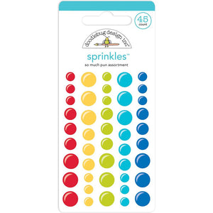DOODLEBUG BAR-B-CUTE (SO MUCH PUN) ENAMEL DOTS (IN STOCK)