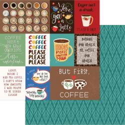 "COLOR PLAY THE DAILY GRIND 12""X12"" DOUBLE SIDED PAPER (1) BUT FIRST COFFEE (CLEARANCE)"