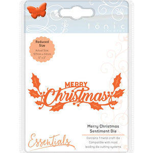 TONIC STUDIOS METAL DIE CUT MERRY CHRISTMAS (IN STOCK)