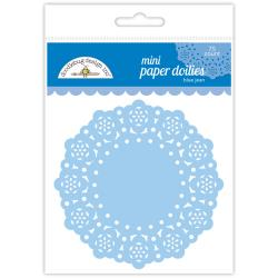 "DOODLEBUG MINI PAPER DOILIES BLUE JEAN 3"" 75 PER PACKAGE (IN STOCK)"