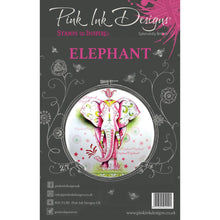 Load image into Gallery viewer, CREATIVE EXPRESSIONS CLEAR STAMPS A5 PINK INK DESIGNS ELEPHANT (HAS TO BE ORDERED)