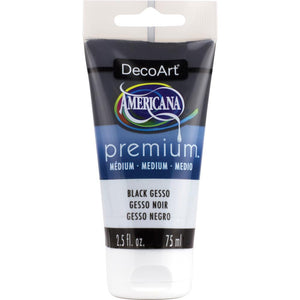 "DECOART PREMIUM MEDIUM GESSO ""BLACK"" (IN STOCK)"