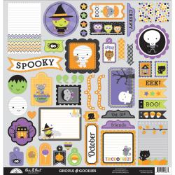 BLOW OUT CLEARANCE ONLY WHILE SUPPLIES LAST (1) 12X12 SCRAPBOOK STICKERS DOODLEBUG