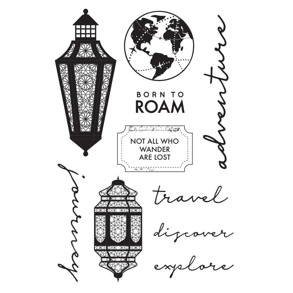 KAISERCRAFT JOURENY CLEAR STAMPS (IN STOCK)