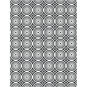 CREATIVE EXPRESSIONS EMBOSSING FOLDER CIRCLE ILLUSION (IN STOCK)