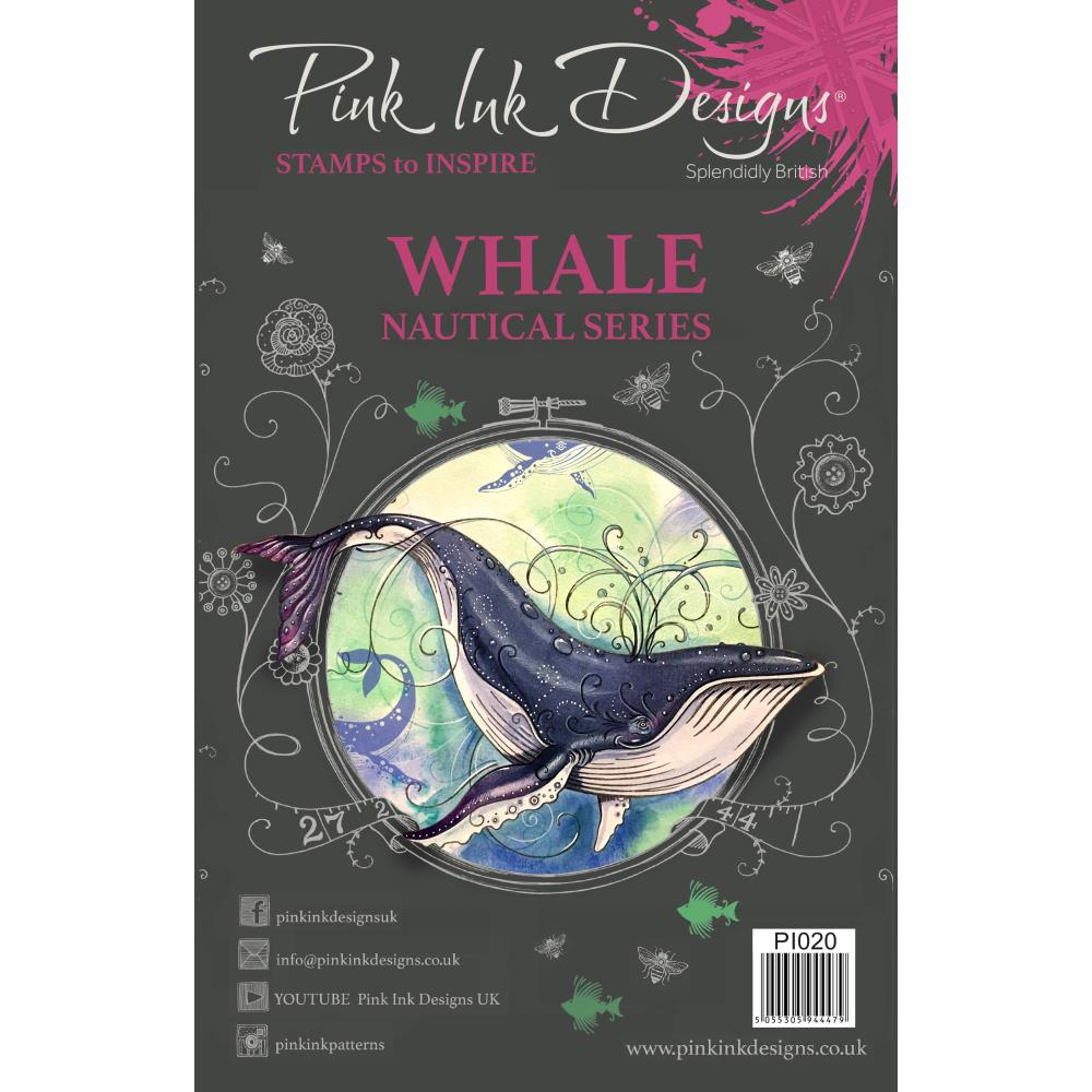 CREATIVE EXPRESSIONS CLEAR STAMPS A5 PINK INK DESIGNS WHALE (HAS TO BE ORDERED)