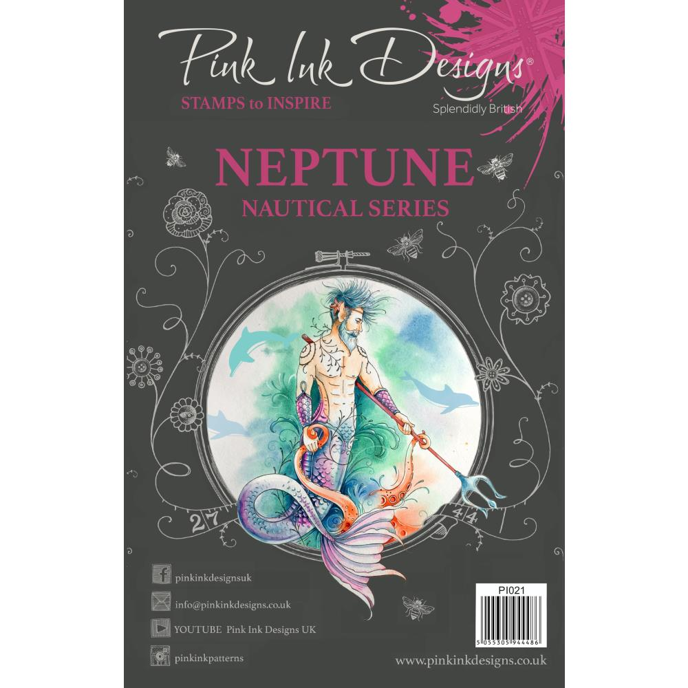 CREATIVE EXPRESSIONS CLEAR STAMPS A5 PINK INK DESIGNS NEPTUNE (HAS TO BE ORDERED)